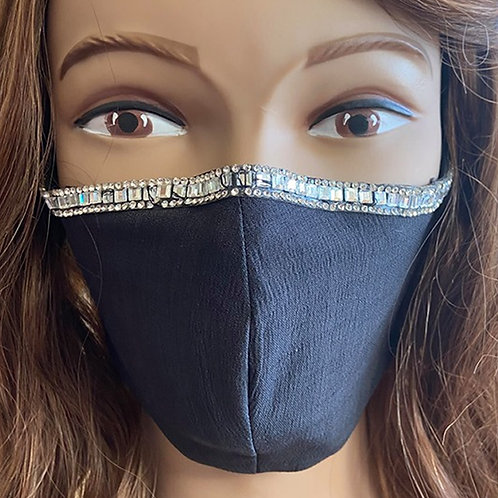 Charcoal Crystal Top Mask