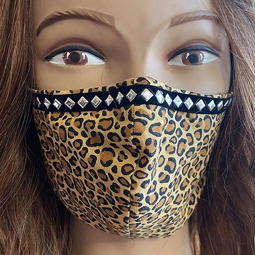 Cheetah Studded Mask