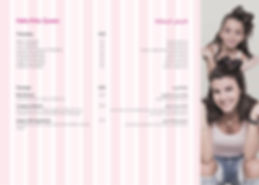 Hello Kitty Beauty Spa Menu 2019