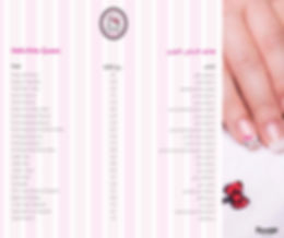 Hello Kitty Beauty Spa Doha Menu
