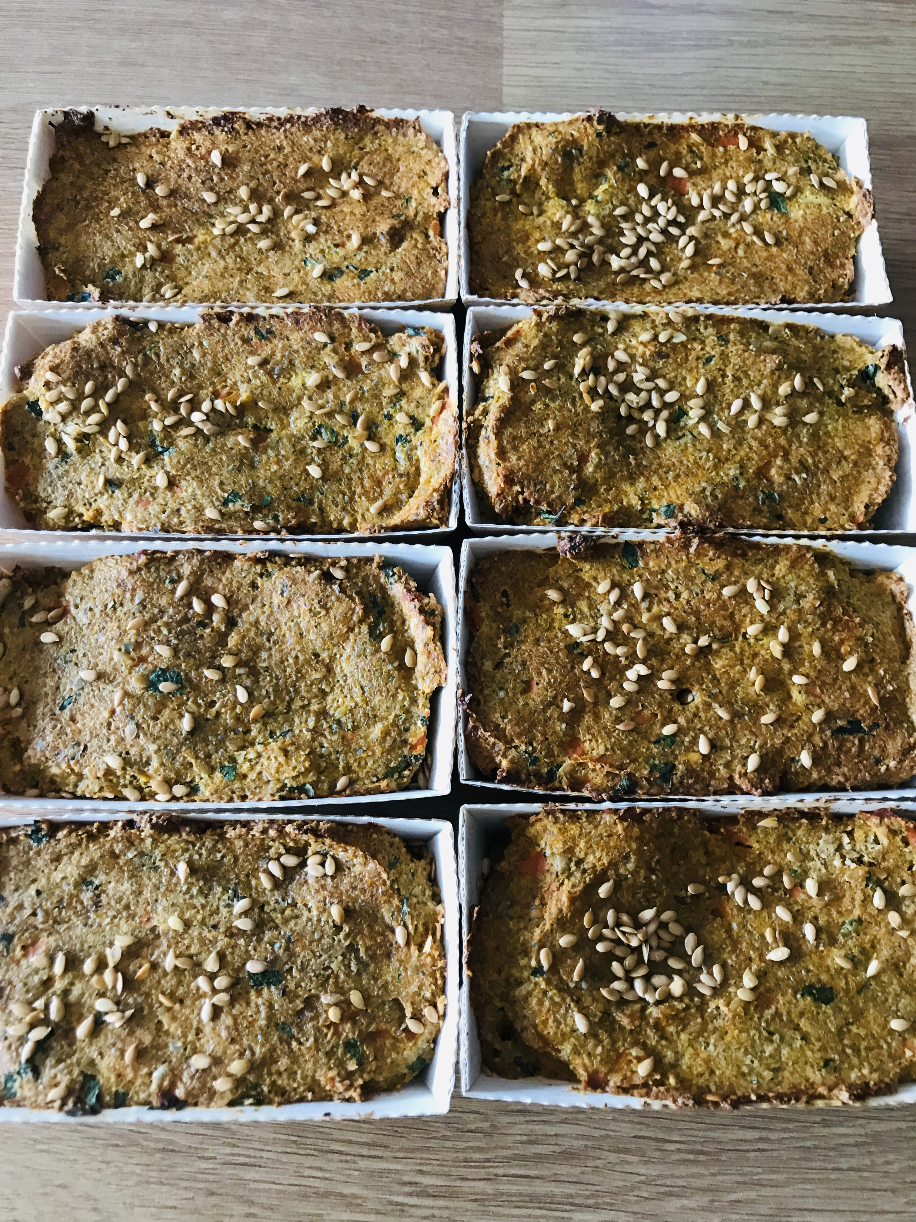 Snack Carrot & Seed Loaves
