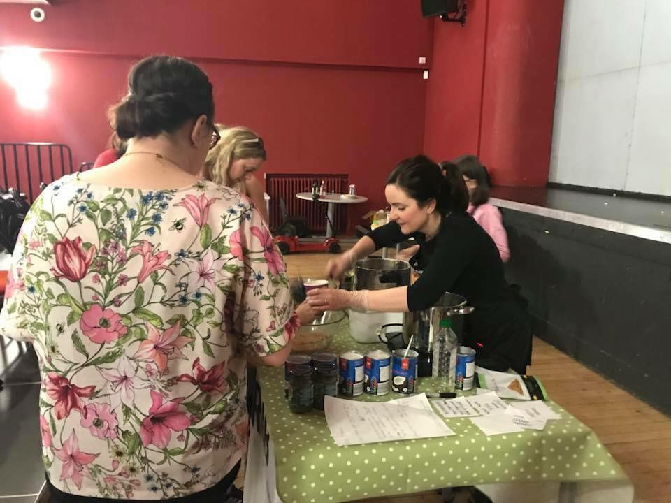 Demonstrating at a vegan fair