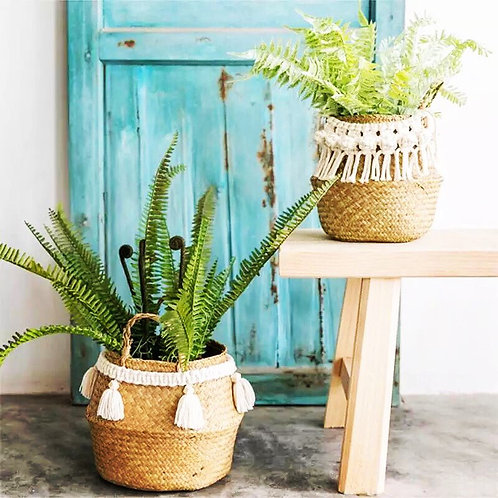 Rattan Basket Planter