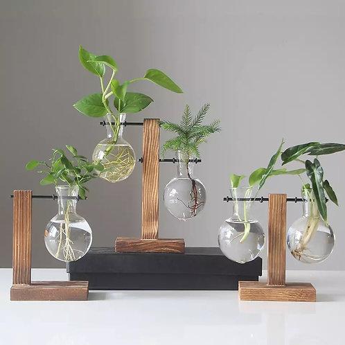 Asian Style Glass Vase Planter