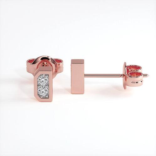 Boucles d'oreilles Dynastie Mini Or Rose