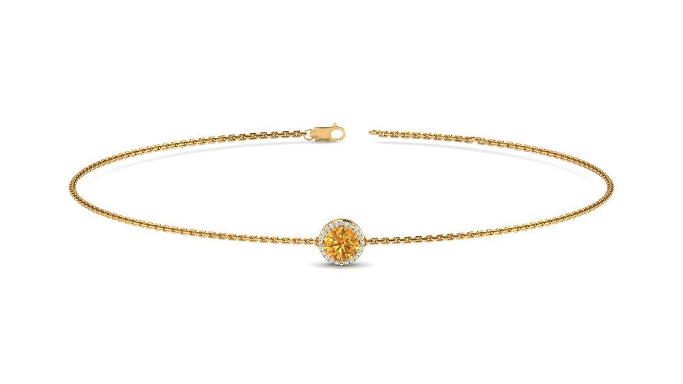 Bracelet Songe Citrine Or Jaune 9K