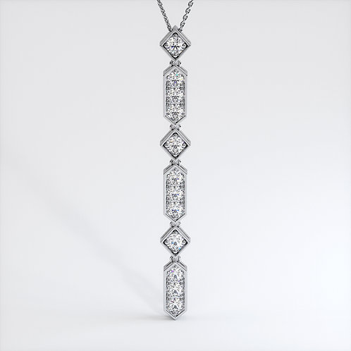 Collier Vendôme VIII L Or Blanc