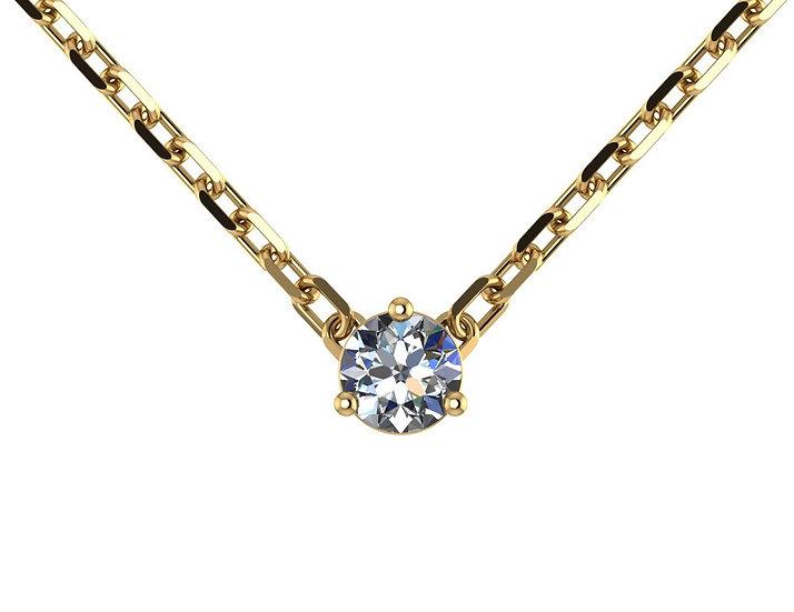 Collier FOUDRE 0,2 carat Or Jaune 375/1000