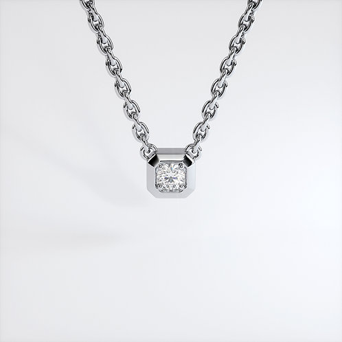 Collier Triomphe Or Blanc