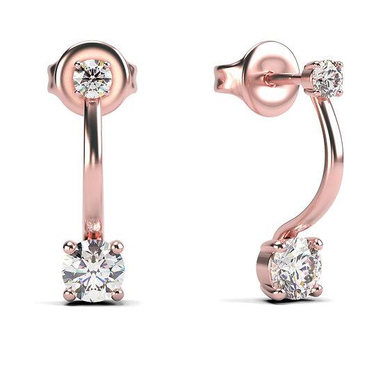 Boucles d'oreilles EVASION 0,3 carat Or Rose