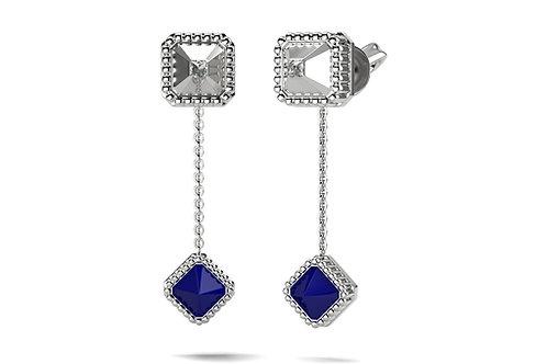 Boucles d'oreilles Vendôme VII Modèle S Or blanc Blue