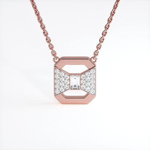 Collier Ruban Or Rose