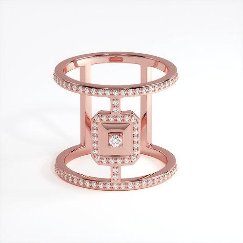 Bague Vendôme VI Modèle XL Ajouré Or rose