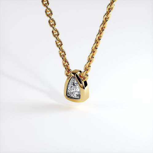 Collier Triomphe poire (Or Jaune)