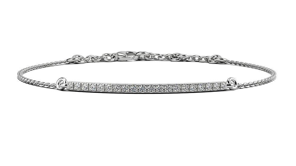 Bracelet FINESSE 0,2 carat Or Blanc 375/1000