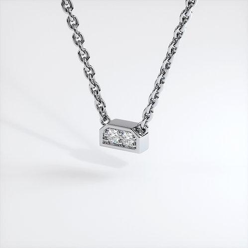 Collier Dynastie mini (Or Blanc)