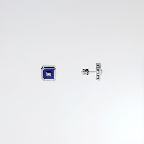 Puces Vendôme V Or Blanc Blue