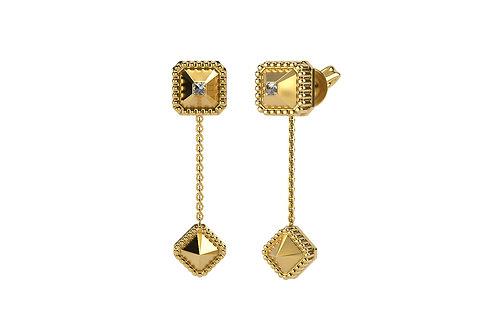 Boucles d'oreilles Vendôme VII Modèle S or jaune