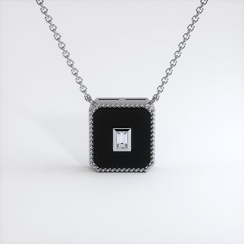 Collier Vendôme V Modèle M Or blanc Black