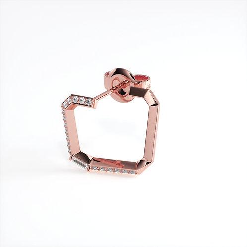Boucles d'oreilles Perception (Or rose)