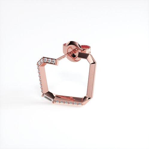 Boucle d'oreille Perception Mono (Or rose)