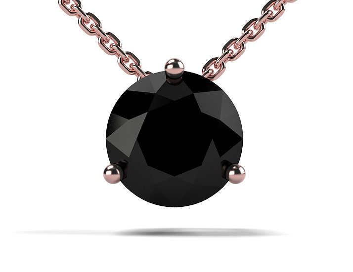 Collier FOUDRE 1 carat Or Rose 375/1000