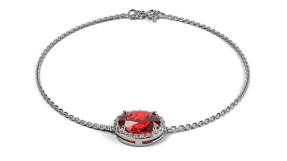 Bracelet IMPERIAL 0,67 carat Or Blanc 375/1000