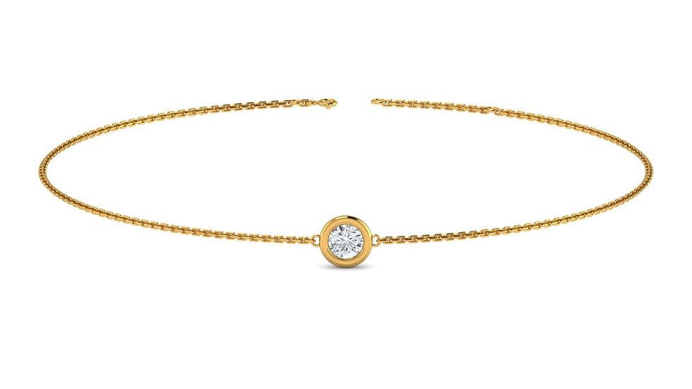 Bracelet FOLIE 0,03 carat Or Jaune 375/1000