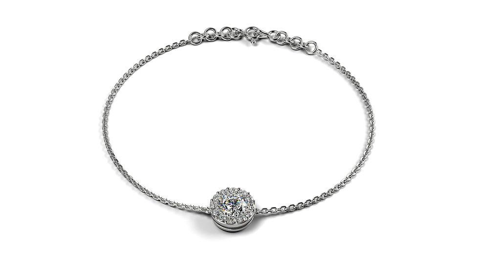 Bracelet Comtesse 0,17 Carat Or Blanc 375/1000