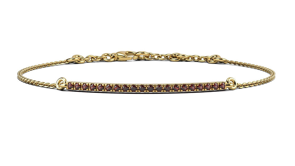 Bracelet FINESSE 0,2 carat Or Jaune 375/1000