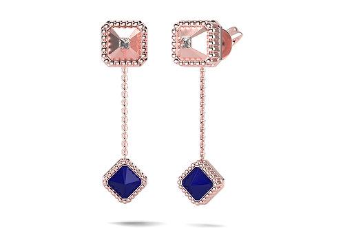 Boucles d'oreilles Vendôme VII Modèle S Or rose Blue