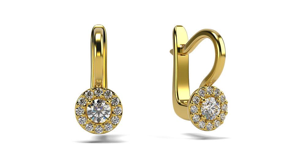 Boucles d'oreilles Venise 0,24 carat - Or 375/1000