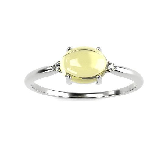 Bague BALLON 0,02 carat Or Blanc 375/1000