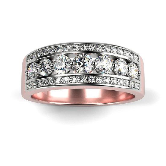 Bague ETOILE 0,86 carat Or Rose 375/1000