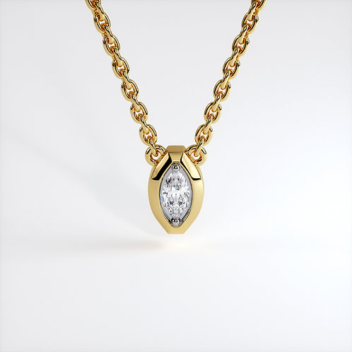 Collier Triomphe marquise (Or Jaune)