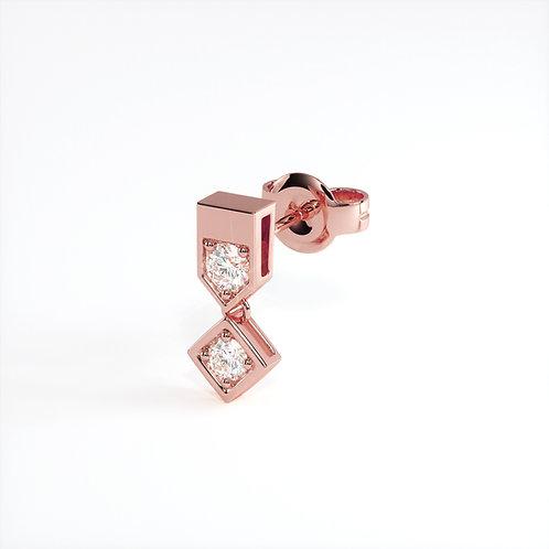 Boucle d'oreille Vendôme VIII mono (Or rose)
