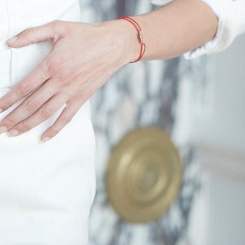 Bracelet V - Or Rose gravable au dos