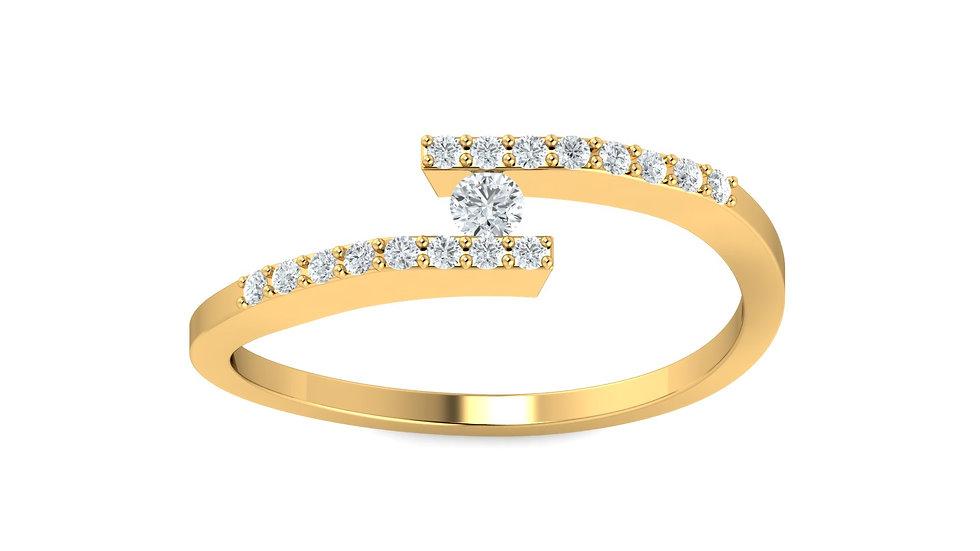 Bague Diamant Symphonie Or Jaune 9K