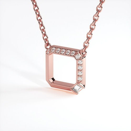 Collier Perception Or Rose