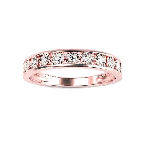 Bague GLOIRE 0,18 carat Or Rose 375/1000