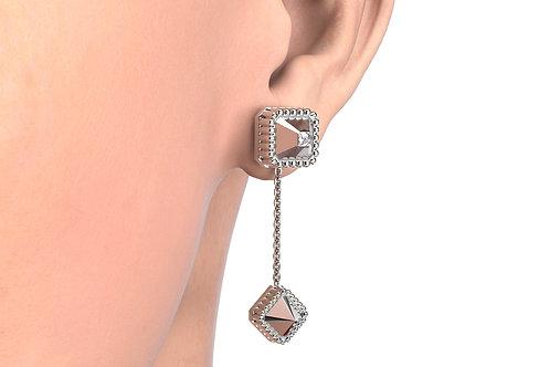MONO Boucles d'oreilles Vendôme VII Modèle S or blanc