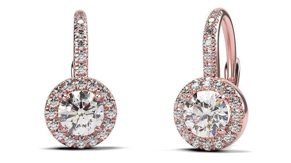 Boucles d'oreilles Comtesse  1,25 carat - Or 375/1000