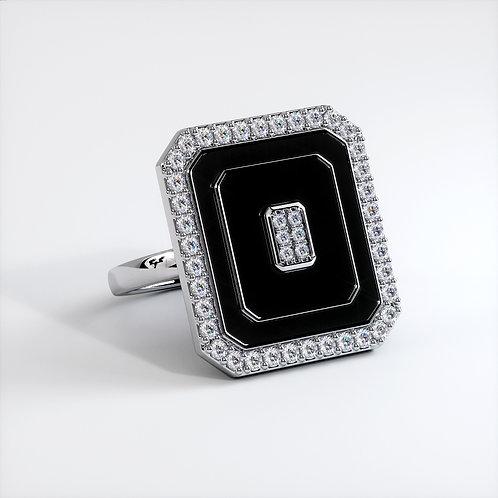 Bague Vendôme V Modèle M Or blanc Black