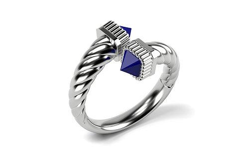 Bague Vendôme VII Modèle S Or blanc Blue
