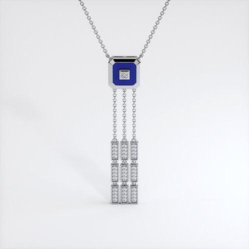 Collier Vendôme V Modèle S Or blanc Blue