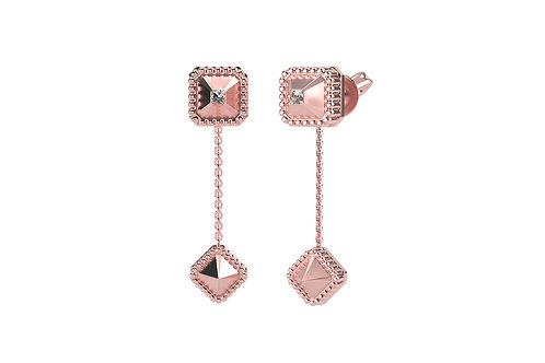 Boucles d'oreilles Vendôme VII Modèle S or rose