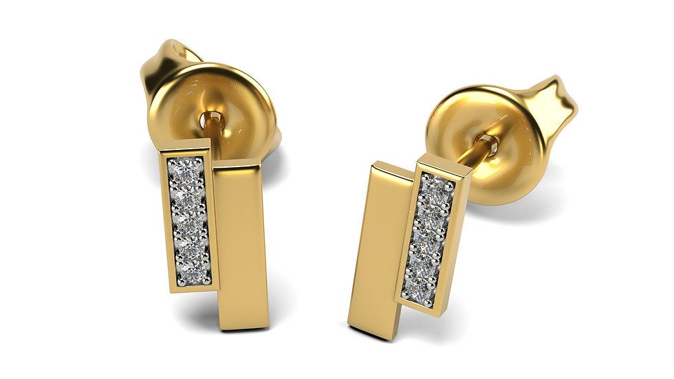 Boucles d'oreilles Equivoque Or Jaune 0,05 Carat Or 375/1000