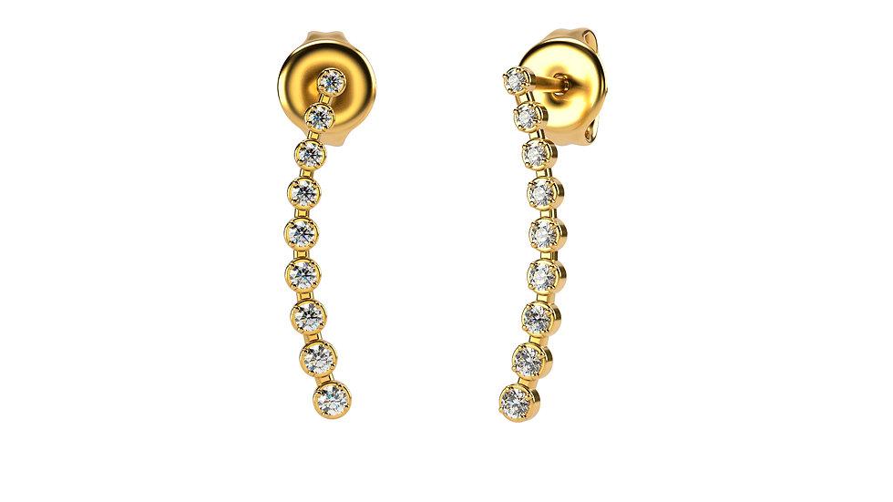 Boucles d'oreilles AGAPE 0,21 Carat Or Jaune 375/1000
