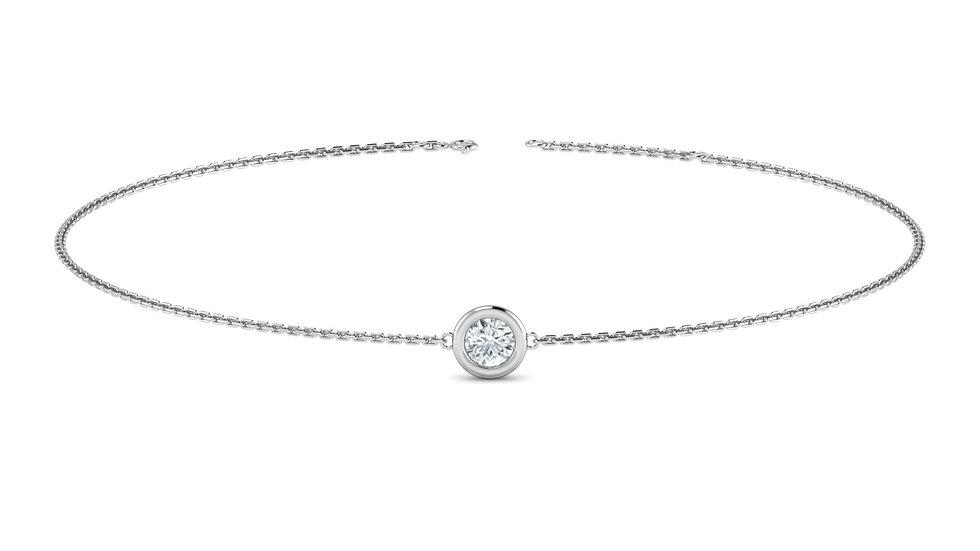 Bracelet FOLIE 0,03 carat Or Blanc 375/1000