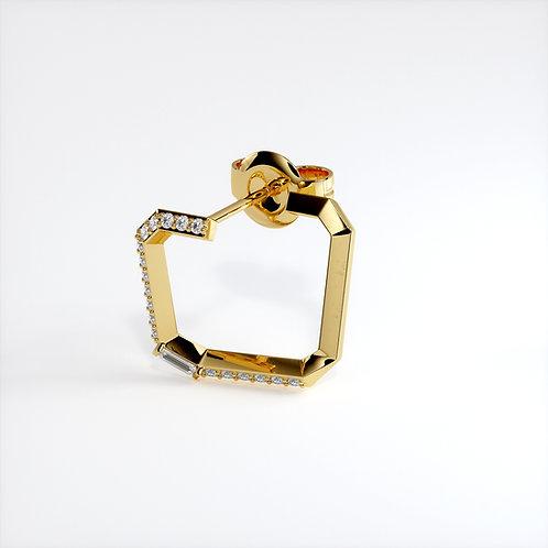 Boucle d'oreille Perception Mono (Or jaune)